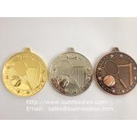 China Gold sports award medals, zinc alloy tennis medals supply from China metal gift factory on sale