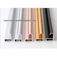 Metal Modern Type Aluminium Picture Frame Mouldings With Narrow Curved Shape Manufactures