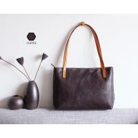 Authentic Handbags Tan Leather Tote Bag Manufactures