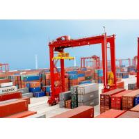 Loading And Unloading Container Lifting Crane , RMG Rail Mounted Gantry Crane Manufactures