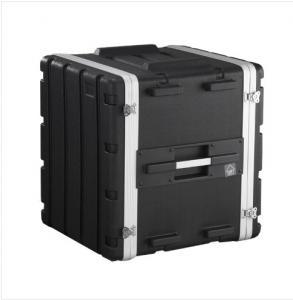 Standard Portable Rackmount Case Black 12u Rack Case 480 X 430 X 530mm For Amplifier Manufactures