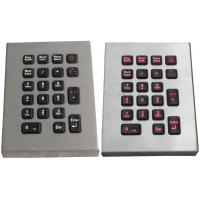 IP65 21 key marine keyboard , stainless steel keyboard with red backlight Manufactures