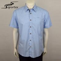 Cross Stripe Plaid Mens Embroidered Shirt Cotton Fabric Type Breathable Manufactures