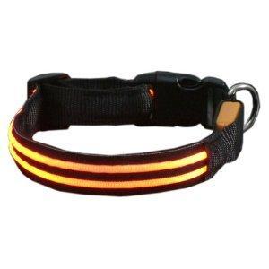 Yellow LED Flashing Pet Collar Manufactures
