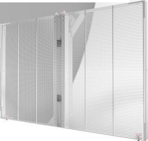 China Transparent LED Window Display Die Cast Aluminum Frame High Brightness on sale