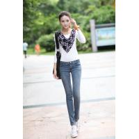 China 2014 Time-limited Seconds Kill Freeshipping Cotton Loose Plus Size Breathable Fluid Shirt Elastic Slim jeans on sale