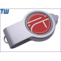LED Light Resin Dome Logo Double Side Swivel Design USB Flash Drive Manufactures