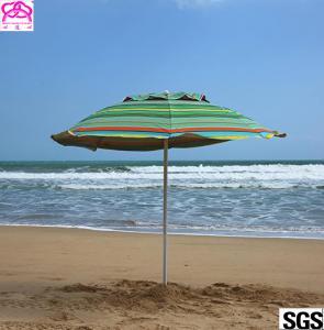 Buy cheap Custom leisure summer outdoor sun beach umbrella , beach umbrella parasol with from wholesalers