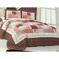Burgundy Color Home Bed Quilts Modern Technics With Matched Printed 240x260cm Manufactures