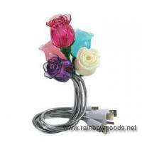 China USB Flexible Book Light with Rose Flower on sale