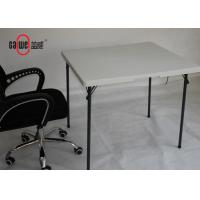 Kitchen Plastic Folding Tables And Chairs Set Crack Proof Square Shape Manufactures