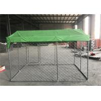 Buy cheap 1.8mx2mx3m  OD32mm pre-galvanized tube mesh 50mm x 50mm chain link dog kennel from wholesalers