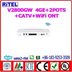 V2800GW     4GE+2POTS+CATV+WiFi GPON ONT Manufactures