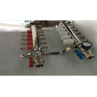 Intelligent Temperture Control Floor Heating Manifold With Two Auto Drain Valve 5 Ways Manufactures