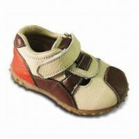 Boy's Leather Shoes, Includes 125 to 145mm TPR Outsole, Intricate Upper with Scrap Leather Manufactures