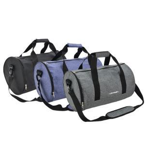 China Custom Printed Travel Duffle Bag / Gym Duffle Bag With Zipper Closure on sale