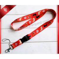 China lanyard supplier for wholesale Christmas Snowman design printing lanyards in bulk, Manufactures