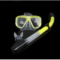 Quality Diving equipment high quality silicone diving mask set of underwater ventilation PE pipe Diving mask snorkel set for sale