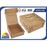 Printed Brown Corrugated Mailer Box kraft paper gift boxes Beauty Product Packaging Manufactures
