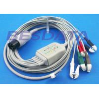 China LL Universal One Piece ECG Cables And Leadwires 5 Lead 6 Pin Generic Clip Electrodes on sale