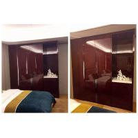 Quality Economic Solid Wood Hotel Room Wardrobe Large Size High Gloss Highly Endurable for sale