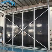 Sturdy Canopy Tent Parts Black Color Sandwich Panel Walls For Coffee Bar Manufactures