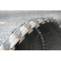 BTO-22 BTO-30 Stainless Steel Razor Barbed Wire Coil For Boundary Segregation Manufactures