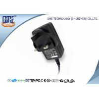 12V 1.5A Switching Power Adapter / wall mount adapter 18W for Electrical Equipments Manufactures