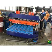 Color Sheet Roof Panel Roll Forming Machine , Glazed Tile Roll Forming Equipment Manufactures