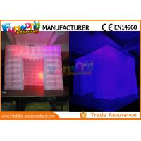 Custom Inflatable Cube Tent / Led Inflatable Air Tent Trade Show Room Manufactures