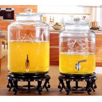 5L 8L Glass Storage Jars Stainless Steel Faucet For Orgnge Juice OEM Accepted Manufactures