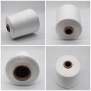 China Factory price white virgin 30/1 100% polyester spun yarn for knitting on sale