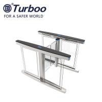 Automatic Access Control Turnstile Gate Transparent Acrylic Arm With Brushed Servo Motor Manufactures