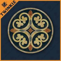 Round Tile Marble Floor Medallions Pattern Colorful For Floor Decor Manufactures