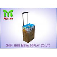 Recyclable Corrugated Exhibition Trolley / Advertising Cardboard Box With Wheels Manufactures