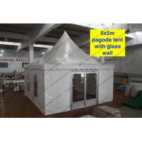 5 x 5m pagoda Party Tent Outside With PVC Window /Glass Sidwalls Manufactures