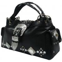 western crystal tote hobo with rhinestone and squre glass concho high fashion Manufactures