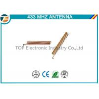 433Mhz Helical Spring Coil Cooper Antenna With Right Angle Connector,2 dbi inner internal type antenna Manufactures