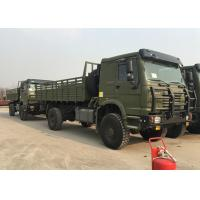 30 Ton Load 290HP Army Cargo Truck , 14.00R20 Tire Howo Military Trucks Manufactures