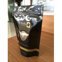 Quality Zip Coffee Bags, Gravure Printing Doypack Stand Up Pouch With One Way Valve for sale