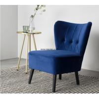 modern living room furniture linen fabric single sofa chair with solid wood legs Manufactures