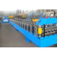 Blue High Speed Roof Panel Roll Forming Machine / Roll Former Machine Manufactures