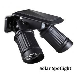 China Double Head Solar Spotlights Motion Sensor 14LEDs Solar Spot Lights Super Bright Wall Mount Motion Detect Sensor Lamp on sale