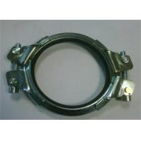 China Galvanized Heavy Duty Pipe Welding Clamps Mounting Bracket 0.8mm-2.0mm Thickness on sale
