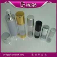 SRS wholesale cosmetic packaging Round Aluminum Airless Clear sprayer Bottle with lid Manufactures
