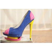 2012 High Heel Pu Leather Fish Mouth Pumps Fashion Women Shoes Online/ Manufactures