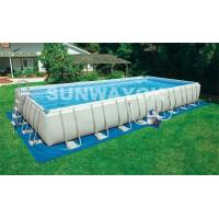 China Stainless Steel Bracket Portable Swimming Pools In Inside Or Outside on sale