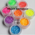 0.2*1.5mm colorful glitter metallic fiber nail polish glitter stripes neon color solid Rainbow  GLITTER DUST for salon Manufactures