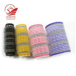 China Colorful Hook Loop Plastic Hair Rollers For Beauty , Sponge Hair Curler on sale