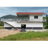 One And A Half Floor Steel Frame Small House / Light Steel Prefab House With Balcony Manufactures